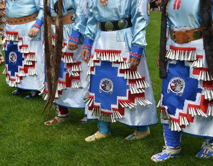 Image of Detail of Dresses, for First Nations Women Warriors.