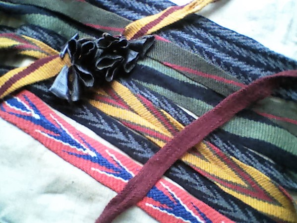 Image of Fingerwoven Sashes and Leg Ties.