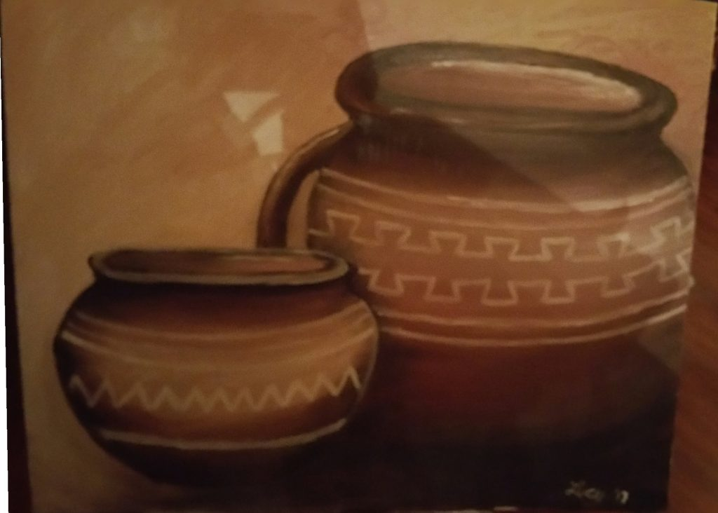 Image of painting called The Poetry of Pottery.