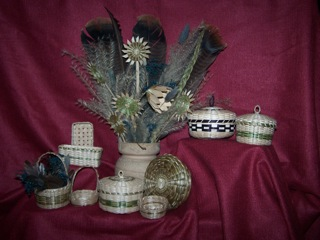 Image of Assorted Small Ash Baskets .