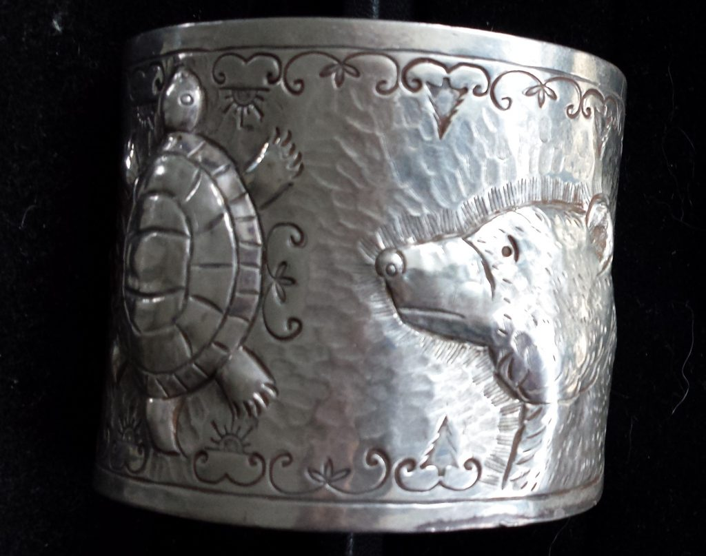 Image of Vermont Bear and Turtle Cuff.
