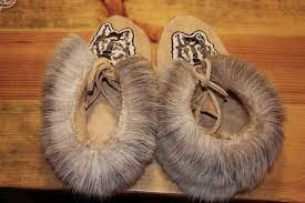 Image of  Beaded Moccasins.
