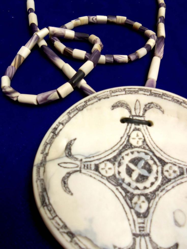 Image of Wampum Necklace and Pendant.
