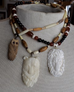 Image of necklaces made by Carol.