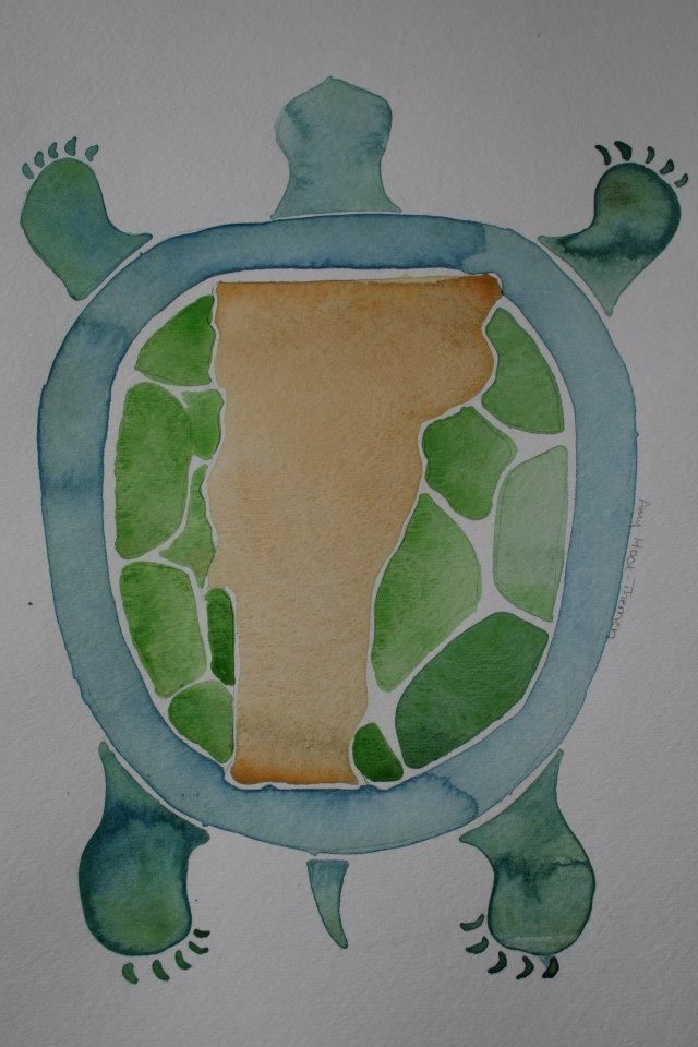 Image of watercolor turtle.