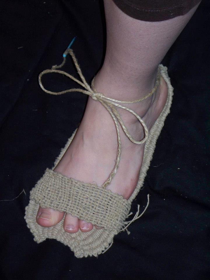 Image of  woven Archaic Style Sandal.